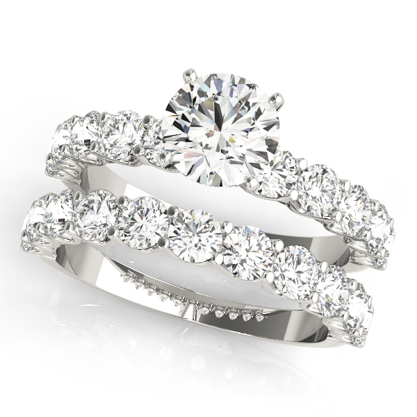 ENGAGEMENT RINGS SINGLE ROW PRONG SET #50631-E