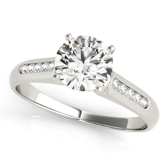 ENGAGEMENT RINGS SINGLE ROW CHANNEL SET #82044