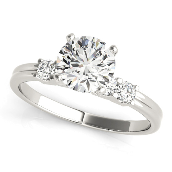 ENGAGEMENT RINGS SINGLE ROW PRONG SET #50391-E