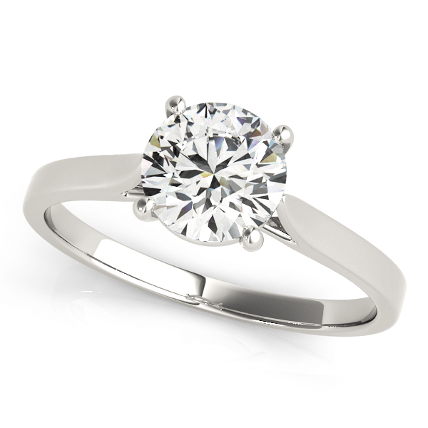 ROUND SOLITAIRE ENGAGEMENT RING #51089-E
