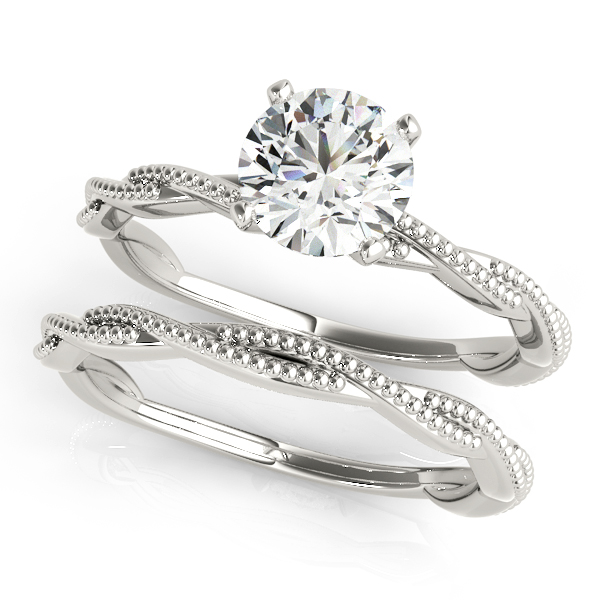 TWISTED ENGAGEMENT RING #51114-E