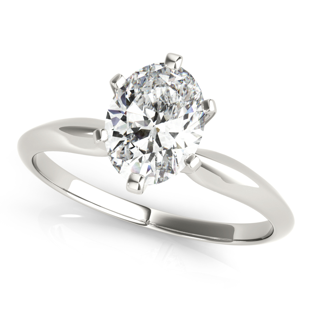 14kt Solitaire Cut Diamond Engagement Ring  Null Style