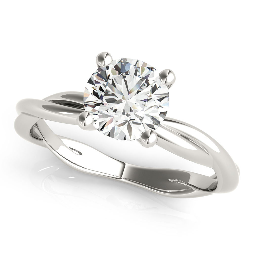 TWISTED SHANK ENGAGEMENT RING #51120-E