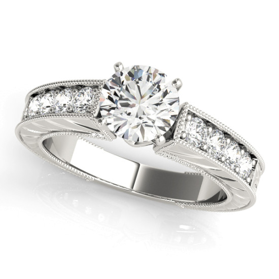 14kt Vintage Cut Diamond Engagement Ring  Null Style