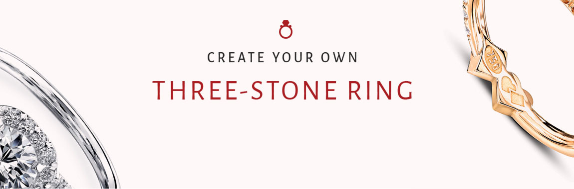 Create your own three-stone ring
