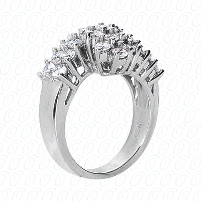 14KP Fancy Rings Cut Diamond Unique <br>Engagement Ring 0.75 CT. Fancy Rings Style