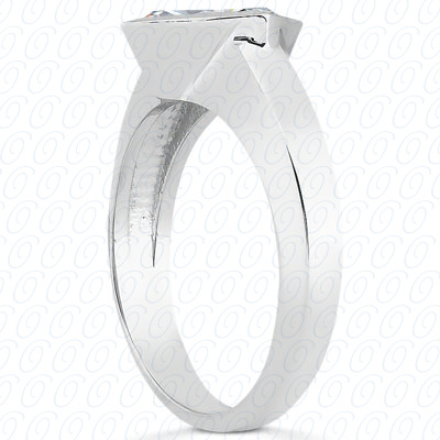 14KP Princess Cut Diamond Unique <br>Engagement Ring 0.00 CT. Solitaires Style