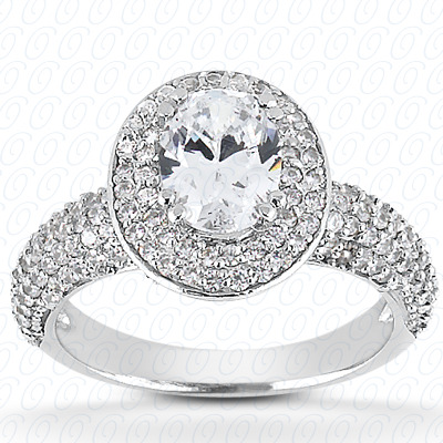 PLAT Oval 0.71 CT. Halo