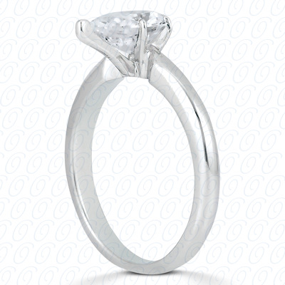 18KP Pear Cut Diamond Unique Engagement Ring