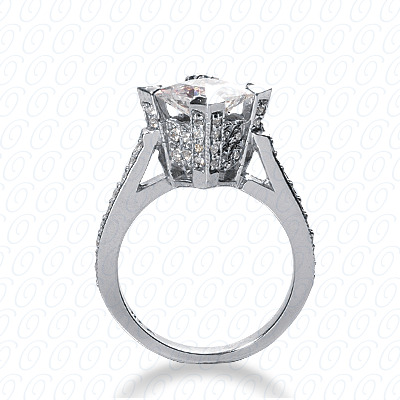 14KW Fancy Cut Diamond Unique Engagement Ring 0.57 CT. Engagement Rings Style