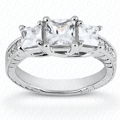 14KP Antique Cut Diamond Unique <br>Engagement Ring 0.35 CT. Engagement Rings Style