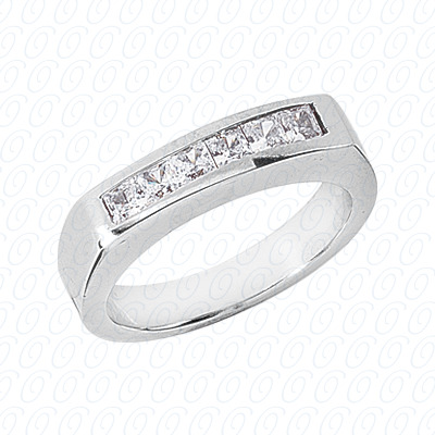 14KP Wedding Bands 0.60 CT. Mens Rings