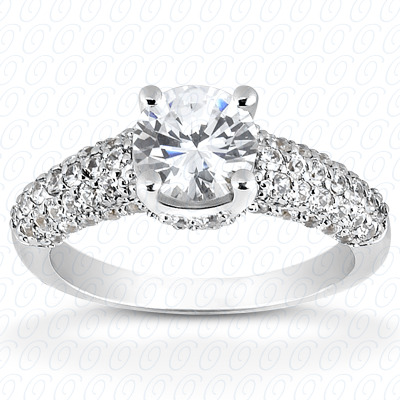 14KW Antique Cut Diamond Unique Engagement Ring 0.07 CT. Engagement Rings Style