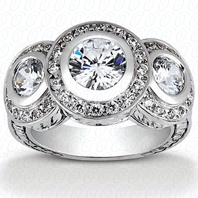 14KP Antique Cut Diamond Unique <br>Engagement Ring 0.92 CT. Engagement Rings Style