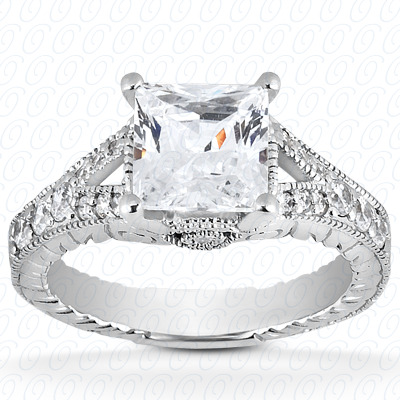 14KP Antique Cut Diamond Unique <br>Engagement Ring 0.23 CT. Engagement Rings Style