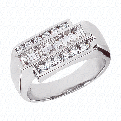 14KW Fancy Styles Cut Diamond Unique Engagement Ring 1.25 CT. Mens Rings Style