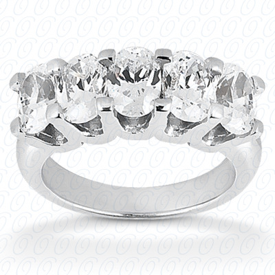 14KP Oval Cut Diamond Unique Engagement Ring