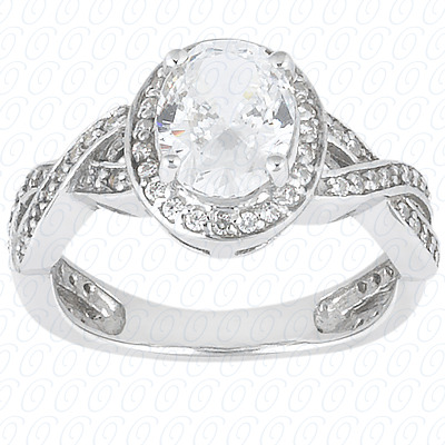 14KP Oval 0.36 CT. Halo