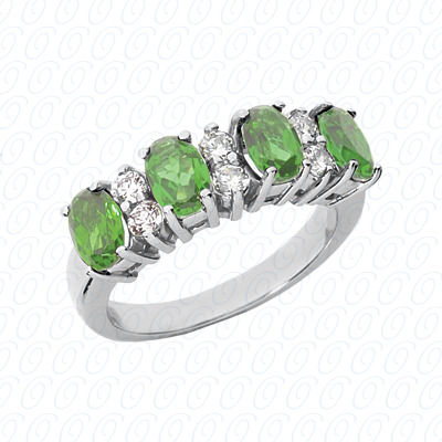 14KW Combination Cut Diamond Unique Engagement Ring 2.30 CT. Color Stone Rings Style