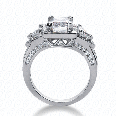 14KP Antique Cut Diamond Unique <br>Engagement Ring 1.68 CT. Engagement Rings Style