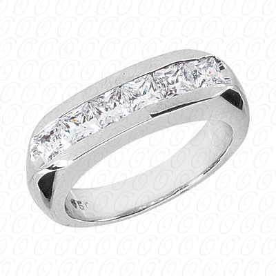 14KP Wedding Bands 1.62 CT. Mens Rings
