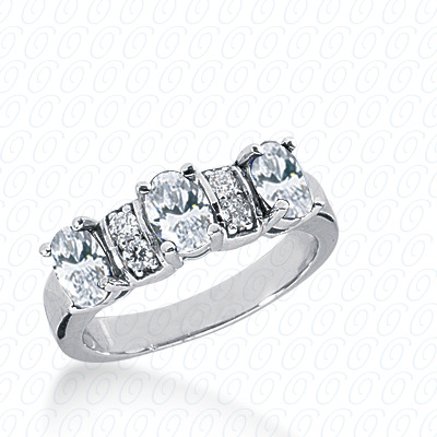14KP Oval 1.62 CT. Wedding Bands