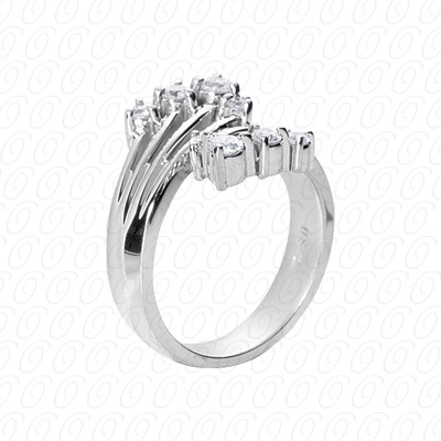 14KW Right Hand Rings Cut Diamond Unique Engagement Ring 0.42 CT. Fancy Rings Style