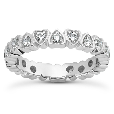14KP  Round Cut Diamond Unique <br>Engagement Ring 0.54 CT. Eternity Wedding Bands Style