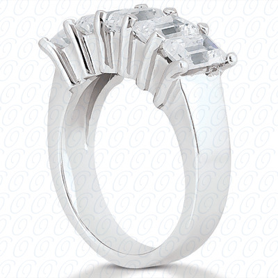 14KW Emerald Cut Diamond Unique Engagement Ring 0.60 CT. Wedding Bands Style