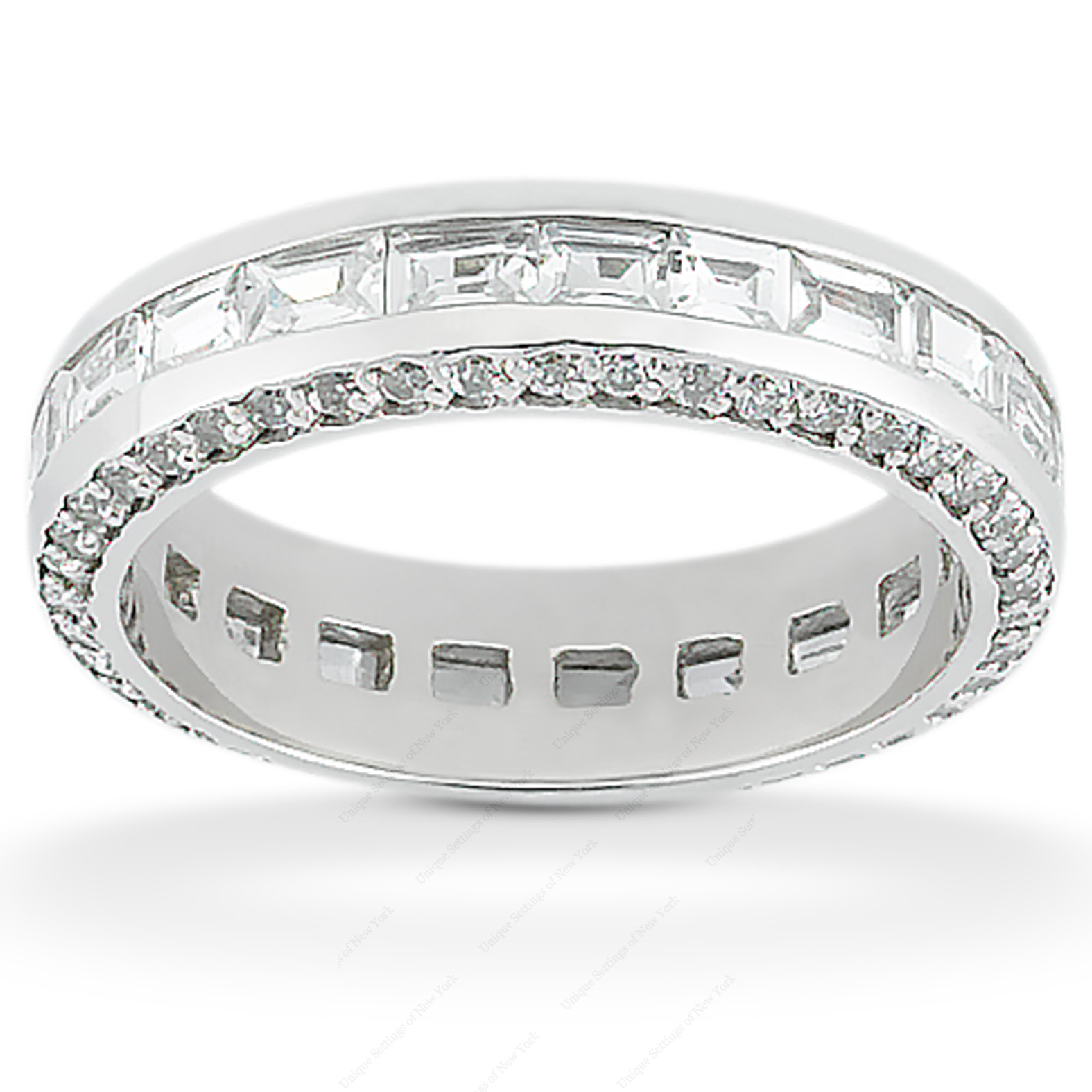 PLAT Combinations 2.41 CT. Eternity Wedding Bands