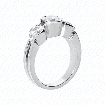 PLAT Fancy Rings 0.90 CT. Fancy Rings