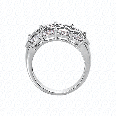 14KP Fancy Rings Cut Diamond Unique <br>Engagement Ring 0.90 CT. Fancy Rings Style