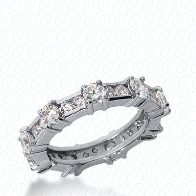 14KP  Round Cut Diamond Unique <br>Engagement Ring 1.68 CT. Eternity Wedding Bands Style