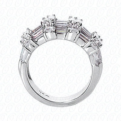 14KP Fancy Rings Cut Diamond Unique <br>Engagement Ring 3.36 CT. Fancy Rings Style