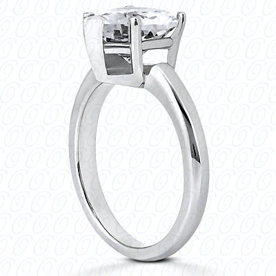 14KP Heart Cut Diamond Unique Engagement Ring 0.00 CT. Solitaires Style