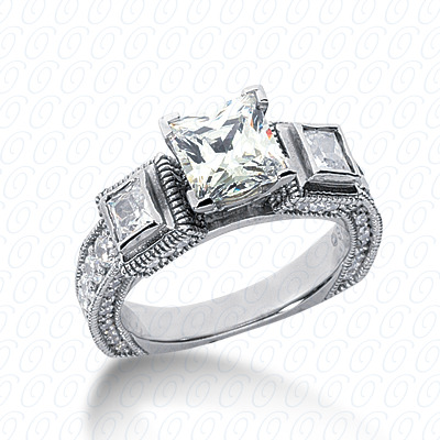 14KP Antique Cut Diamond Unique <br>Engagement Ring 1.53 CT. Engagement Rings Style
