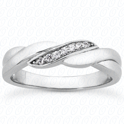 14KP Round Cut Diamond Unique <br>Engagement Ring 0.10 CT. Wedding Band Sets Style