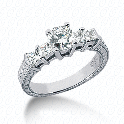 14KP Antique Cut Diamond Unique <br>Engagement Ring 0.56 CT. Engagement Rings Style