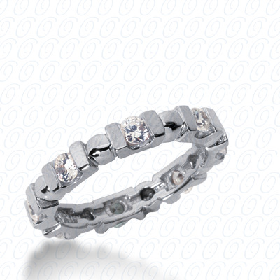 14KP  Round Cut Diamond Unique <br>Engagement Ring 0.70 CT. Eternity Wedding Bands Style