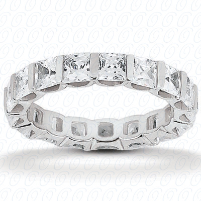 14KP Princess Cut Diamond Unique <br>Engagement Ring 1.05 CT. Eternity Wedding Bands Style