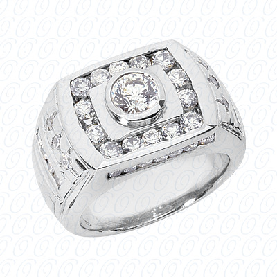 14KP Fancy Styles Cut Diamond Unique Engagement Ring 1.86 CT. Mens Rings Style