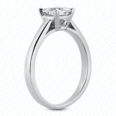 14KP Princess Cut Diamond Unique <br>Engagement Ring 0.01 CT. Solitaires Style