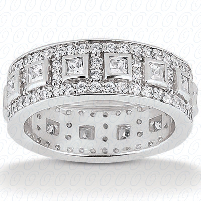 14KW Combinations Cut Diamond Unique Engagement Ring 1.69 CT. Eternity Wedding Bands Style