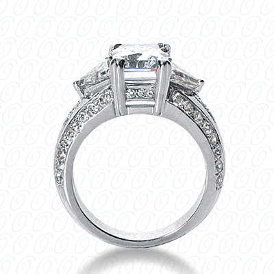 14KP Fancy Cut Diamond Unique <br>Engagement Ring 1.27 CT. Engagement Rings Style