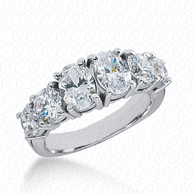 14KP Oval Cut Diamond Unique <br>Engagement Ring 1.60 CT. Wedding Bands Style