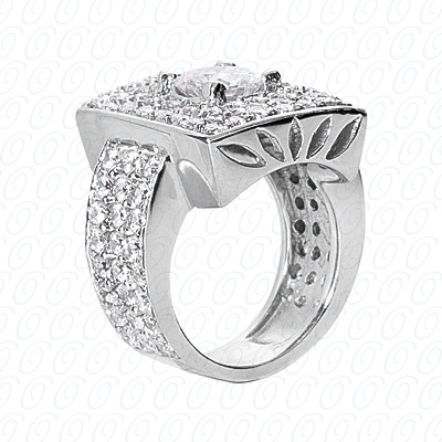 14KP Fancy Rings Cut Diamond Unique <br>Engagement Ring 2.52 CT. Fancy Rings Style