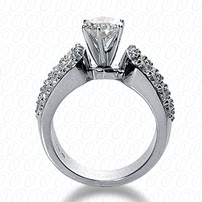 14KP Fancy Cut Diamond Unique <br>Engagement Ring 0.96 CT. Engagement Rings Style