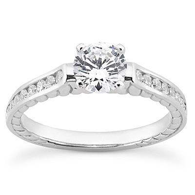 14KP Antique Cut Diamond Unique <br>Engagement Ring 0.24 CT. Engagement Sets Style