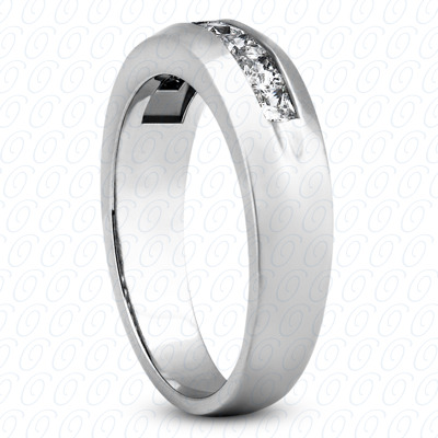 14KP Wedding Bands 0.98 CT. Mens Rings
