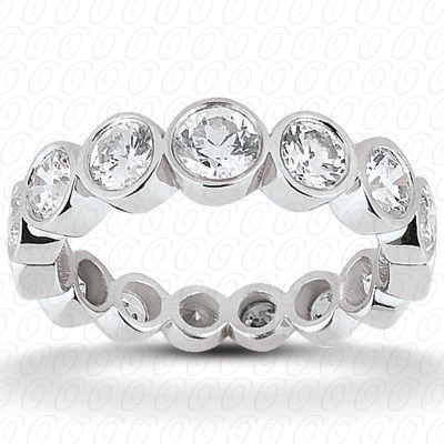 14KP  Round Cut Diamond Unique <br>Engagement Ring 2.04 CT. Eternity Wedding Bands Style